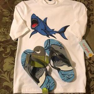 🦈 Shirt & Sandals 🦈 Beach 🏖 Ready